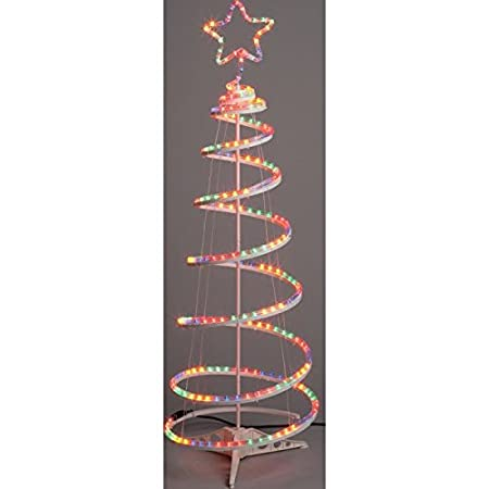 Image Unavailable - Argos Multicoloured Spiral Christmas Tree With Lights - 4ft: Amazon