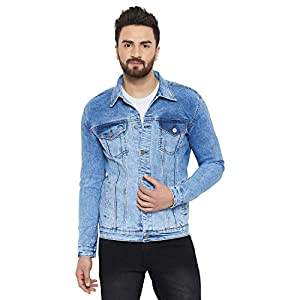 KROSSSTITCH Men's Full Sleeves Solid Denim Jacket