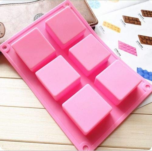 Amazon.com: Molde Chocolate - 6 Cube Square Mini Wedding Fondant Cake Silicone Bakeware Mould Diy Soap Mold Chocolate - Barra Letras Policarbonato Forma ...
