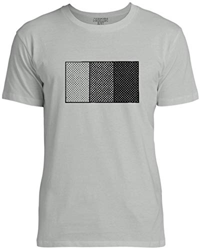 Austin Ink Apparel Halftone Shading Diagram Unisex Womens Soft Cotton Tee, Silver Gray, XX-Large