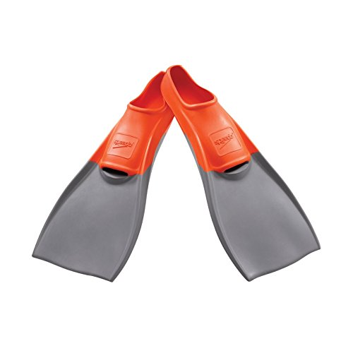 Speedo Rubber Swim Training Fins - XXS (Y 1-3) - Orange ()