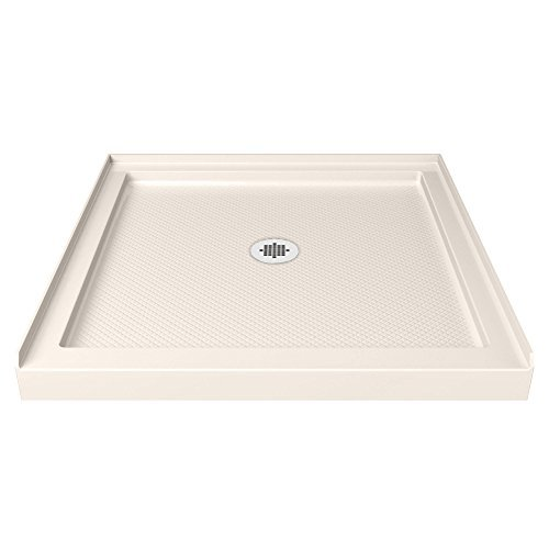 DreamLine DLT-1136360-22 Single Threshold Shower Base, 36 W x 36 D, Biscuit by DreamLine
