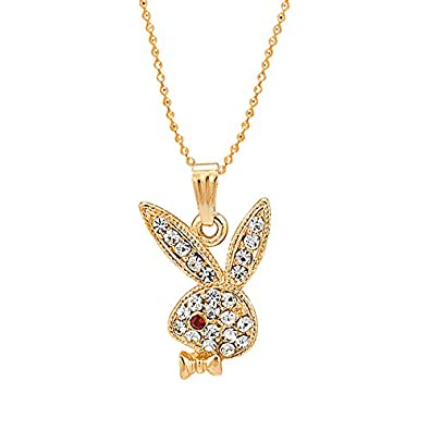 Buy shining jewel gold plated playboy rabbit pendant with chain shining jewel gold plated playboy rabbit pendant with chain crystals sj2141 aloadofball Image collections