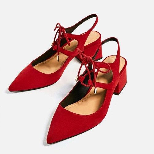 Lace pour Chaussures Up Chaussures Pompes Talon Red Heeled Sandales High Carré Été Femmes JUWOJIA qYd6Cq