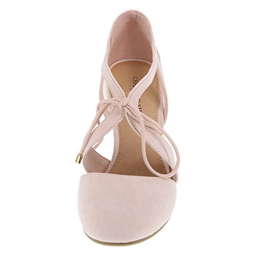 720eb08c0b11 Christian Siriano for Payless Women s Light Pink Suede Kami Ghillie Block  Heel 9.5 Regular  Amazon.ca  Shoes   Handbags