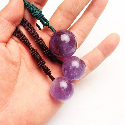 usongs Natural Amethyst Crystal Ball Pendulum necklace pendant men and women girls models Crystal Jewelry gift divination crystal necklace