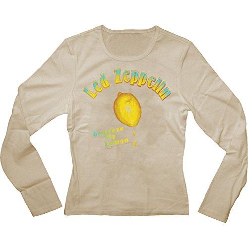 Led Zeppelin Girls Jr Thermal Long Sleeve X-Large Brown