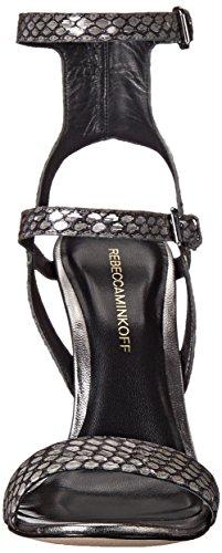 Snake Dress Minkoff Metallic Sandal Rosalie Gunmetal Women's Rebecca Td0xnqwtRw