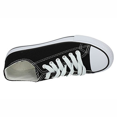 7 Mujer DE Lona 12 DEMAX Negro A1612K Zapatillas Zapatillas 1UqdY447w