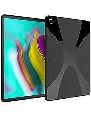 samsung galaxy tab s5e 10.5 inch t725 Black Anti-skid Matte X Line Slim Silicone Case Cover