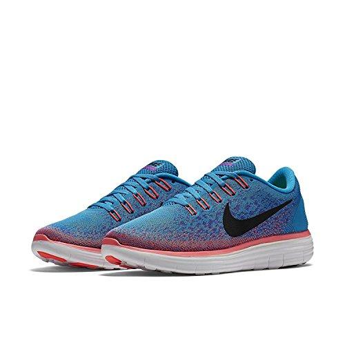 Nike Free Rn Afstand Hardloopschoen (7.5, Blauwe Lagune / Zwart)