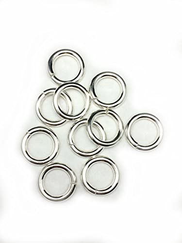 Size 6mm O.D . 20 x 925 SOLID STERLING SILVER Open Jump Rings