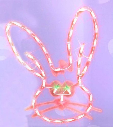 ink Easter Bunny Head Window Silhouette Decoration (Easter Window)
