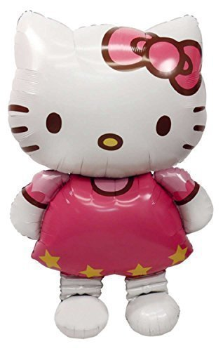 New Large Size Hello Kitty Cat Foil Balloons Cartoon Birthday Decoration Wedding Party Inflatable Air Balloons Classic Toys (Hello Kitty 1st Birthday Party)