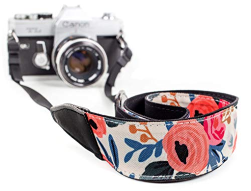 Flowers Camera Strap Belt for All DSLR Camera. Elegant Universal DSLR Strap, Unique Pattern Neck Shoulder Strap for Canon, Nikon,Pentax, Sony, Fujifilm and Digital Cameras. Best Photographer Gifts