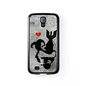 Banksy Girl with Bomb Black Hard Plastic Case Snap-On Protective Back Cover for Samsung? Galaxy S4 by Banksy + FREE Crystal Clear Screen Protector