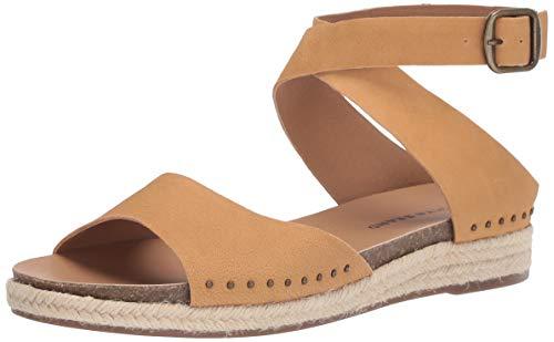 Lucky Brand Women's GLADAS Espadrille Wedge Sandal, Light Desert, 11 M US