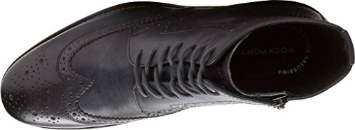 Rockport Mens Wyat Wingtip Boot Dark Shadow Leather Boot