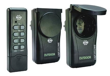 Chilitec prese elettriche da esterno con telecomando set di