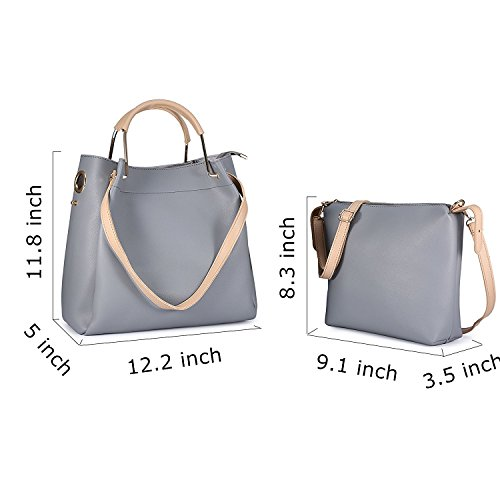 Shoulder Tote Purses Bags Purse Bag and Designer Crossbody Top Gray Satchel Womens Vintage Hobo Handbags handle RAw8qqI