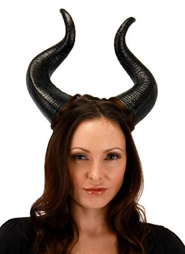 (Elope Disney Maleficent Costume Horns Deluxe for Adults and)