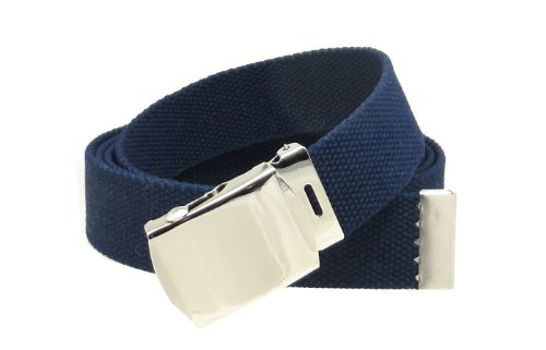 Navy Web Belt with Buckle Military - Blue Belt Buckle
