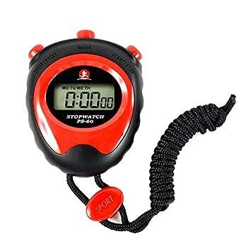 Szaerfa Cronómetro Temporizador Reloj Digital LCD cronógrafo Profesional Reloj atlético Contador Deportes: Amazon.es: Deportes y aire libre