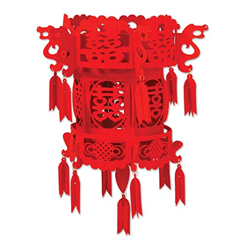 Club Pack of 12 Decorative Red Asian Hanging Chinese Palace Lanterns - Asian Lantern Party Chinese Paper