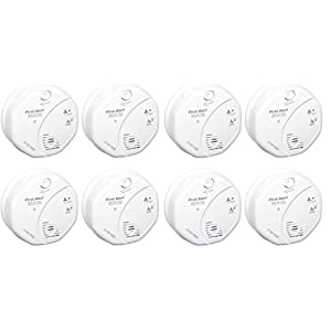 First Alert SCO5CN Combination Smoke and Carbon Monoxide Alarm, Battery Operated (8 PACK)