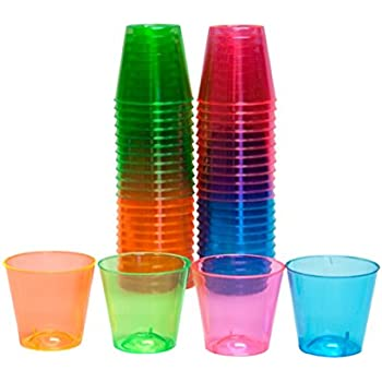 120ct mini red cups 2oz plastic disposable for Small plastic cups