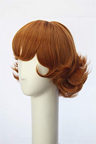 Weave Wigs Cocoa Brown Short Flapper Bob Anime Cosplay Pidge Adult Wig