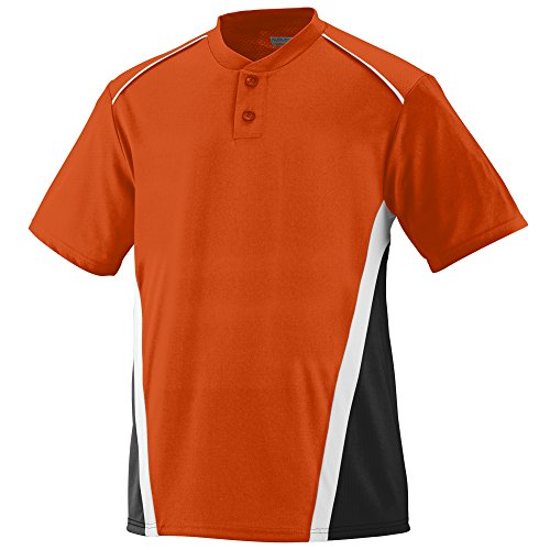 Augusta Sportswear RBI Jersey S Orange/Black/White (Best Discount Clothing Websites)