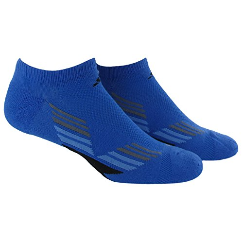 adidas Men's Climacool X II No Show Socks (Pack of 2), Bright Royal/Black/Lucky Blue/Vista Grey, One Size