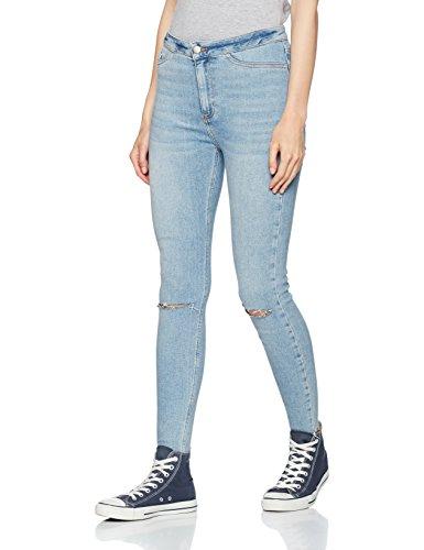 Blue Blue light Hem Disco Look Fray New Donna Jeans wxqSzacBv