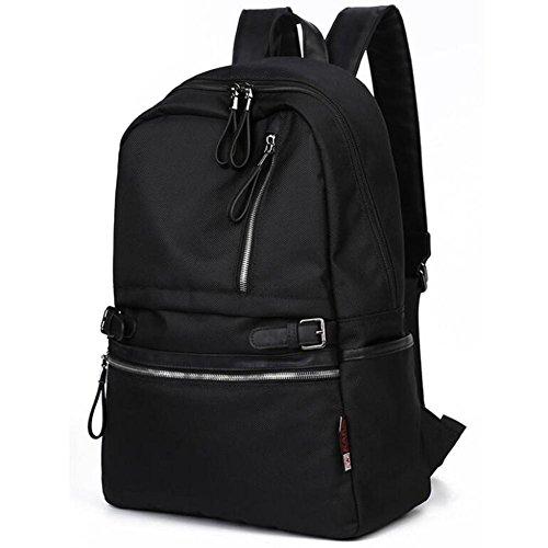 Mode Computer Rucksack Oxford-Stoff Wasserdicht Erdbeben Diebstahlsicherung Freizeit Studenten Schultasche 14 Zoll Computerfach black