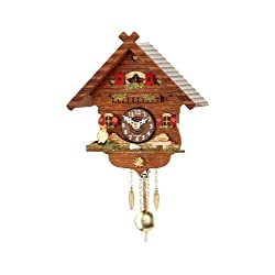 Trenkle Kuckulino Black Forest Clock with Quartz Movement and Cuckoo Chime TU 2043 PQ