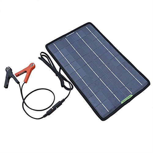 ECO-WORTHY 12 Volts 10 Watts Portable Power Solar Panel Backup for Car Boat with Alligator Clip Adapter by ECO-WORTHY (Image #2)