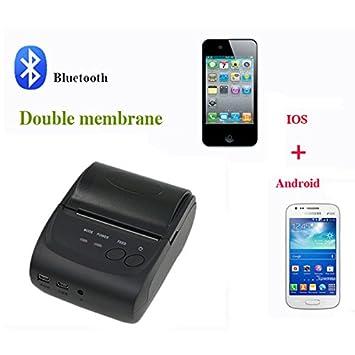 Amazon.com: Mobile Thermal Receipt Printer Bluetooth 58MM ...