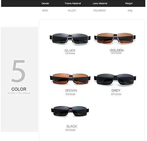 de de Gafas polarizadas del Sol de los Gafas Gafas Golden Brown Gafas Sol Sol de Gafas Sol Color de diseñador Jusheng de Sol Gafas Hombres aHvq5a
