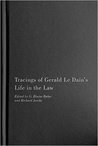 Tracings Of Gerald Le Dain S Life In The Law Baker G Blaine Janda Richard 9780773555181 Amazon Com Books