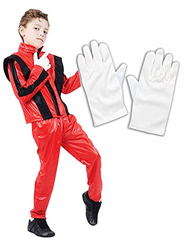Party Central Boys Michael Jackson 80S Fancy Dress Costume White Gloves (10-12 Years) (Michael Jackson Outfits)
