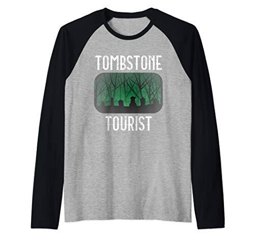 Taphophile Shirt Tombstone Tourist Cemetery Halloween Gift Raglan Baseball Tee]()