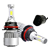 RSSONG 9007 LED Headlight Bulbs Conversion Kit 9004 High Low beam Super Bright COB Chips 72W 16000LM Per Pair 6500K Cool White