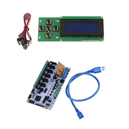 Dovewill 3D Printer Control Board for Rumba & USB Cable LCD expansion interface +2004 LCD Display Screen by Dovewill