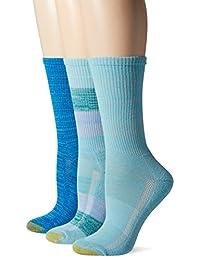Gold Toe womens Free Feed Stripe Crew Athletic Sport Sock 3-pack