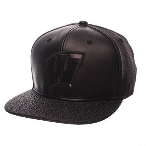 Wisconsin Badgers Black Leather - 3