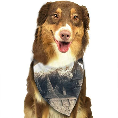 Pet Scarf Dog Bandana Bibs Triangle Head Scarfs Castle Mystery Accessories for Cats Baby Puppy]()