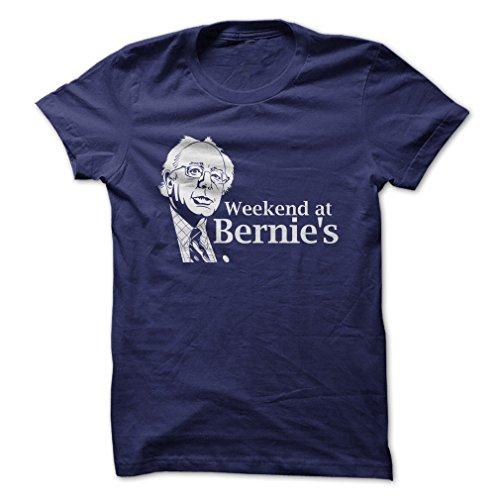 Weekend at Bernie's-T-Shirt/Navy Blue/2XL - Made On Demand in USA
