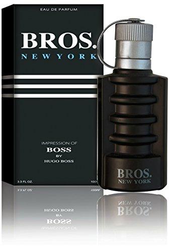 De Men Citrus Hugo Eau For Toilette (Bros. New York Eau De Toilette Spray for Men, 3.1 Ounces 95 Ml - Impression of Boss)