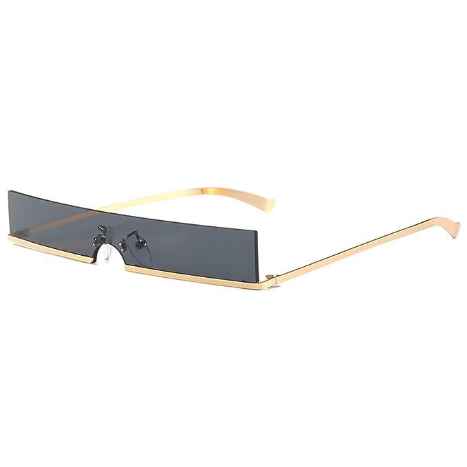 Amazon.com: Gafas de sol vintage rectangulares estrechas de ...